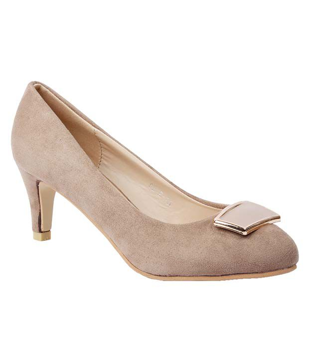 Foot Candy Beige Cone Heels