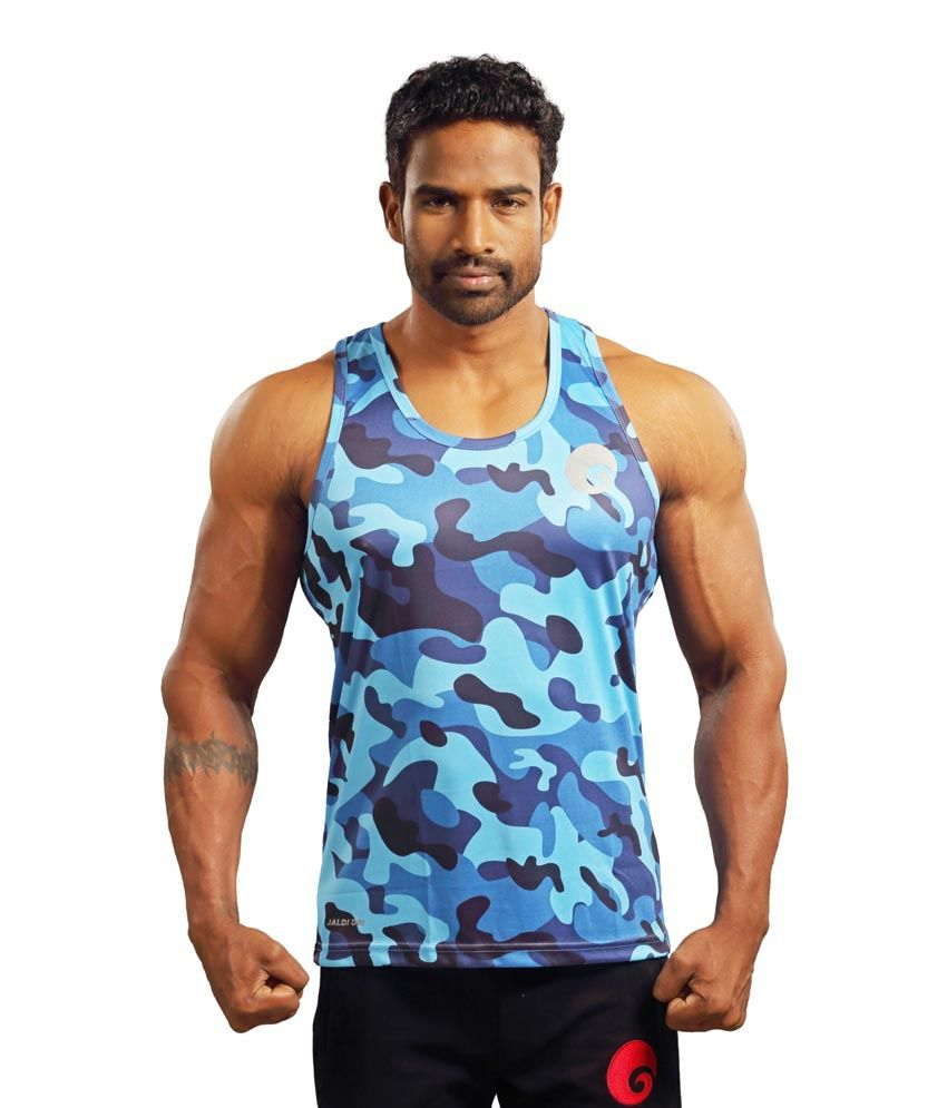 Omtex Blue Gym Tank