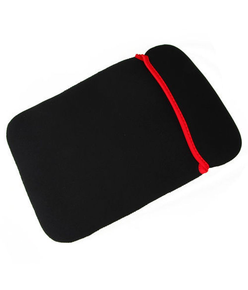 Inovera Black and Red Reversable Laptop Sleeve Case