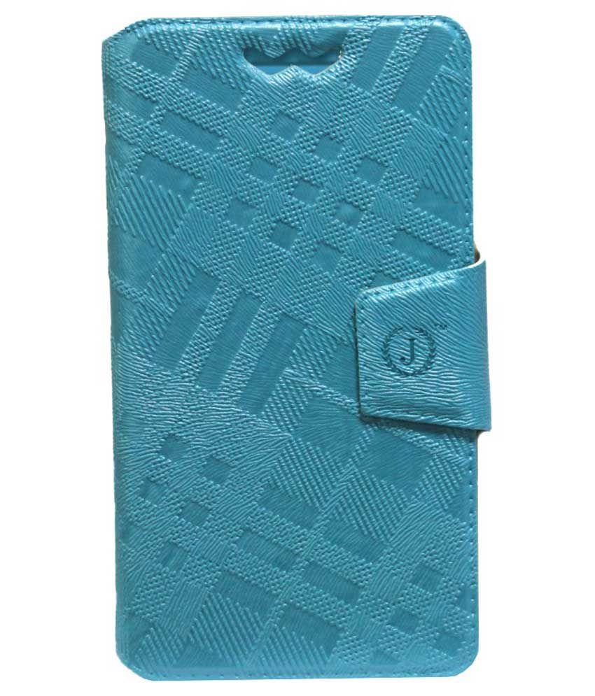 Jo Jo Flip Cover Case For Lava Iris Atom 3 - Blue