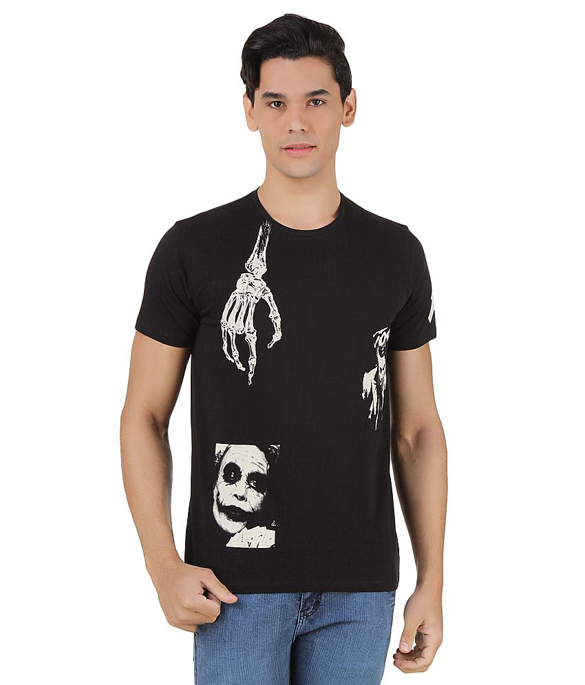 Joker Black Printed T-Shirt