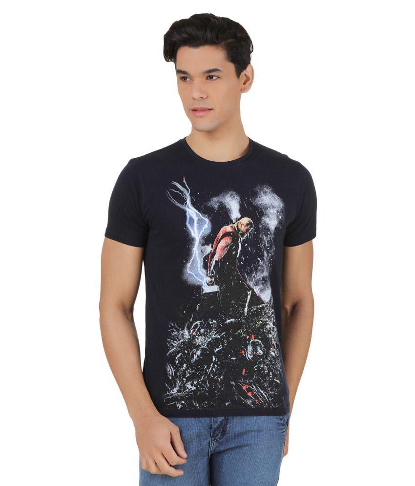 Marvel Comics Navy Printed T-Shirt