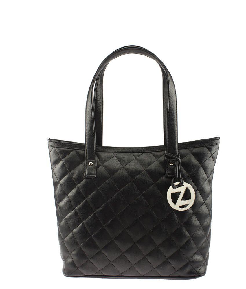 Osaiz Black P.U. Tote Bag
