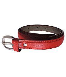 Elligator Red Belt For Women