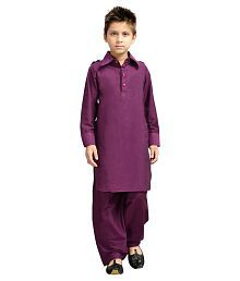 K&u Purple Pathani Suits