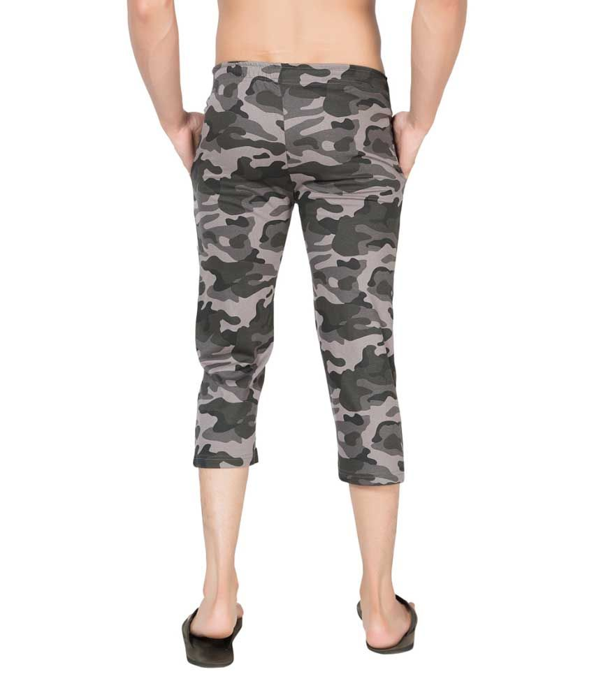 Clifton Fitness Men's Army Capri- Steel Grey