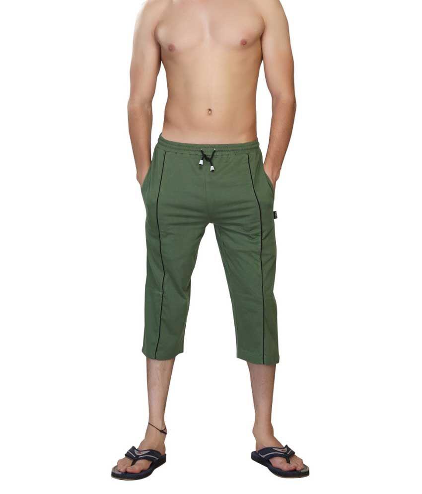 Clifton Fitness Men's Capri- Olive Green