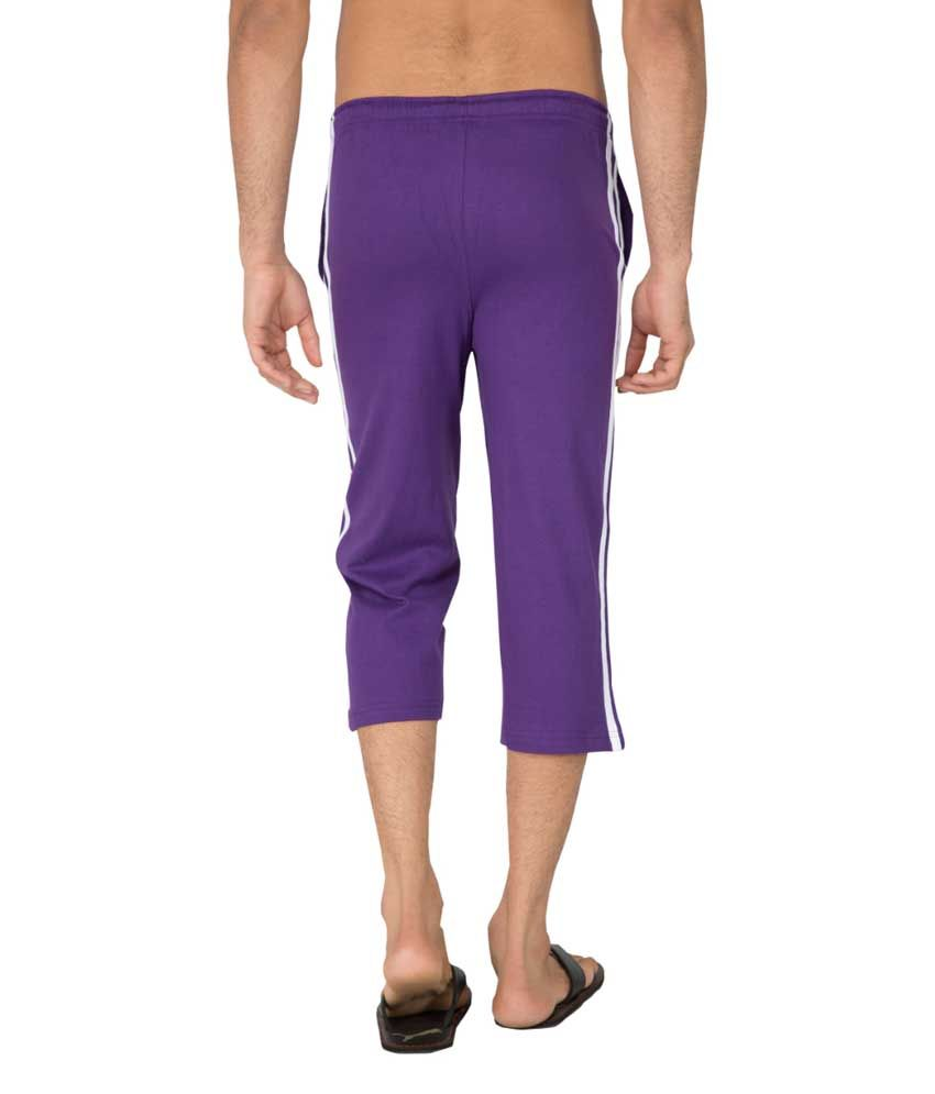 Clifton Fitness Men's Capri- Purple