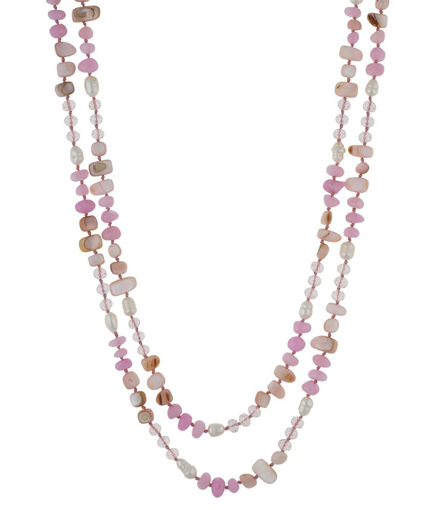 One Stop Fashion Pink Alloy Necklace
