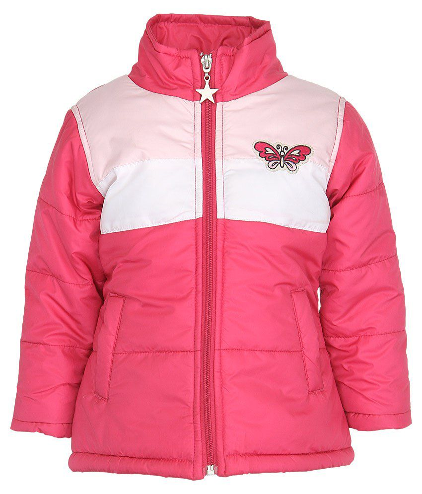 Stop by Shoppers Stop Pink & White Synthetic Bomber Jacket