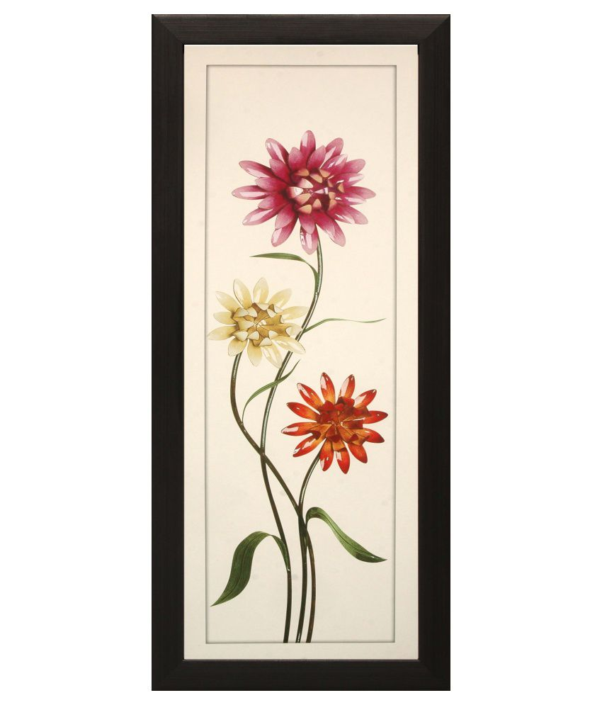 SAF Multicolour Floral Painting with Frame