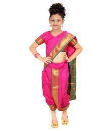 Bhartiya Paridhan Pink Saree For Girls