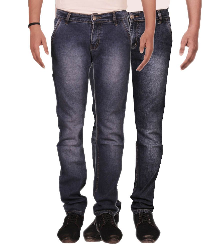 Fuego Blue Regular Fit Jeans Pack of 2