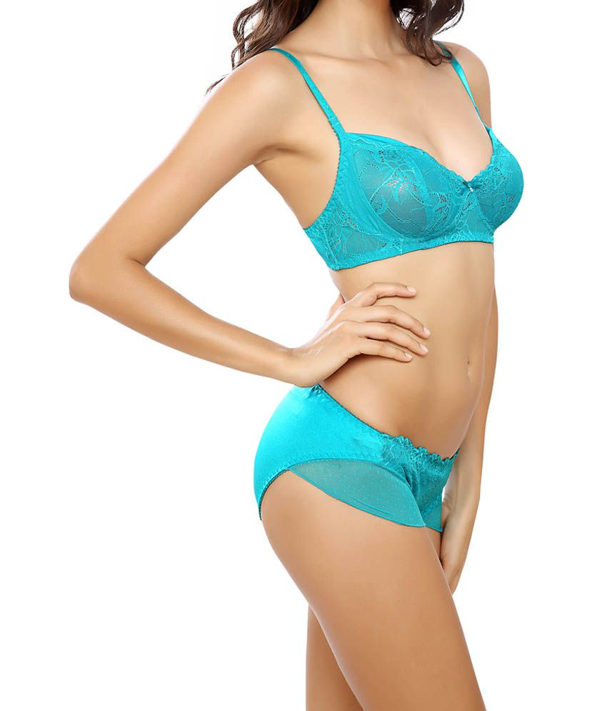 80ab997eee Buy Lady Love Blue Lace Bra   Panty Sets Online at Best Prices in ...