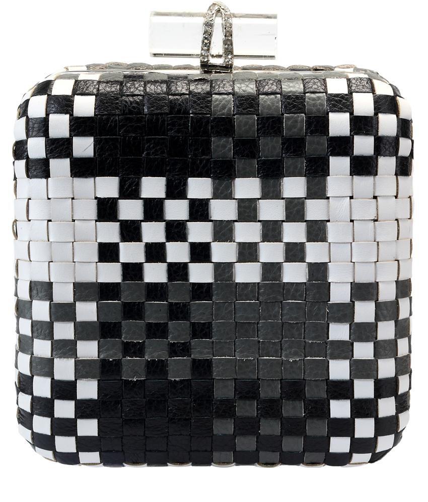 Jasbir Gill Black Leather Clutch