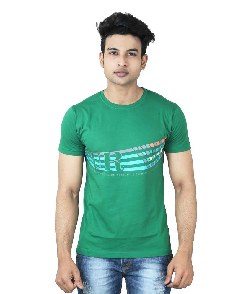 Spur Green Round T Shirts