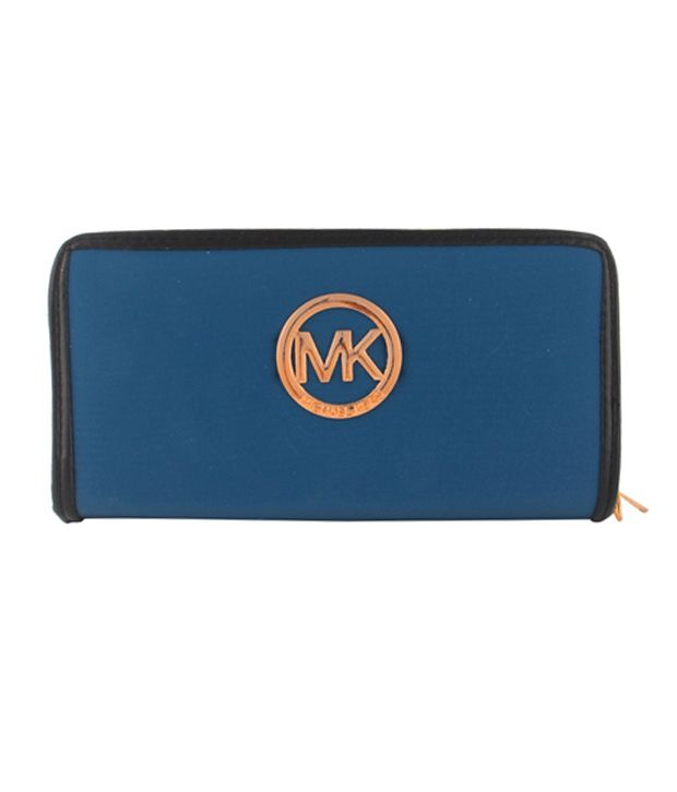 Fiza Blue Leather Wallet For Women
