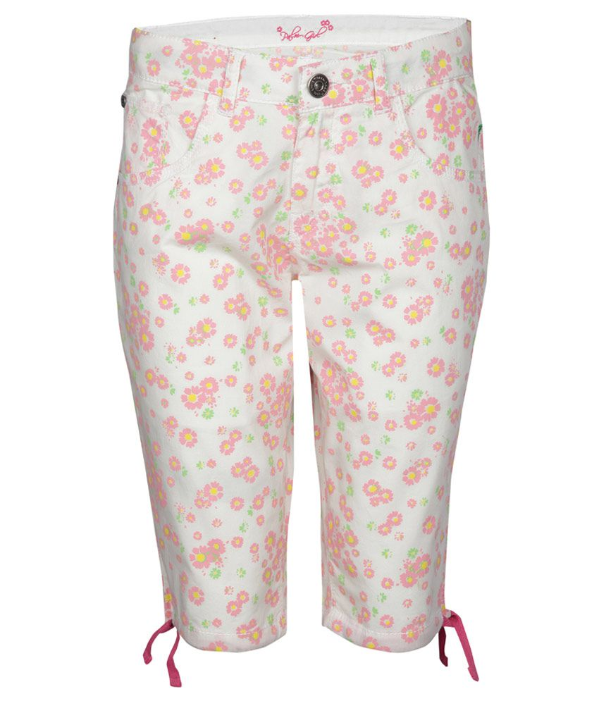 Gini & Jony White 100% Cotton Capris