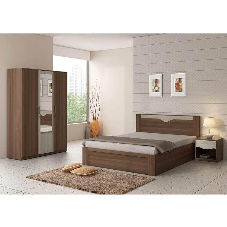 Best Price Bedroom Furniture: Spacewood Crescent Bedroom Set (Queen Storage Bed+ 3 Door