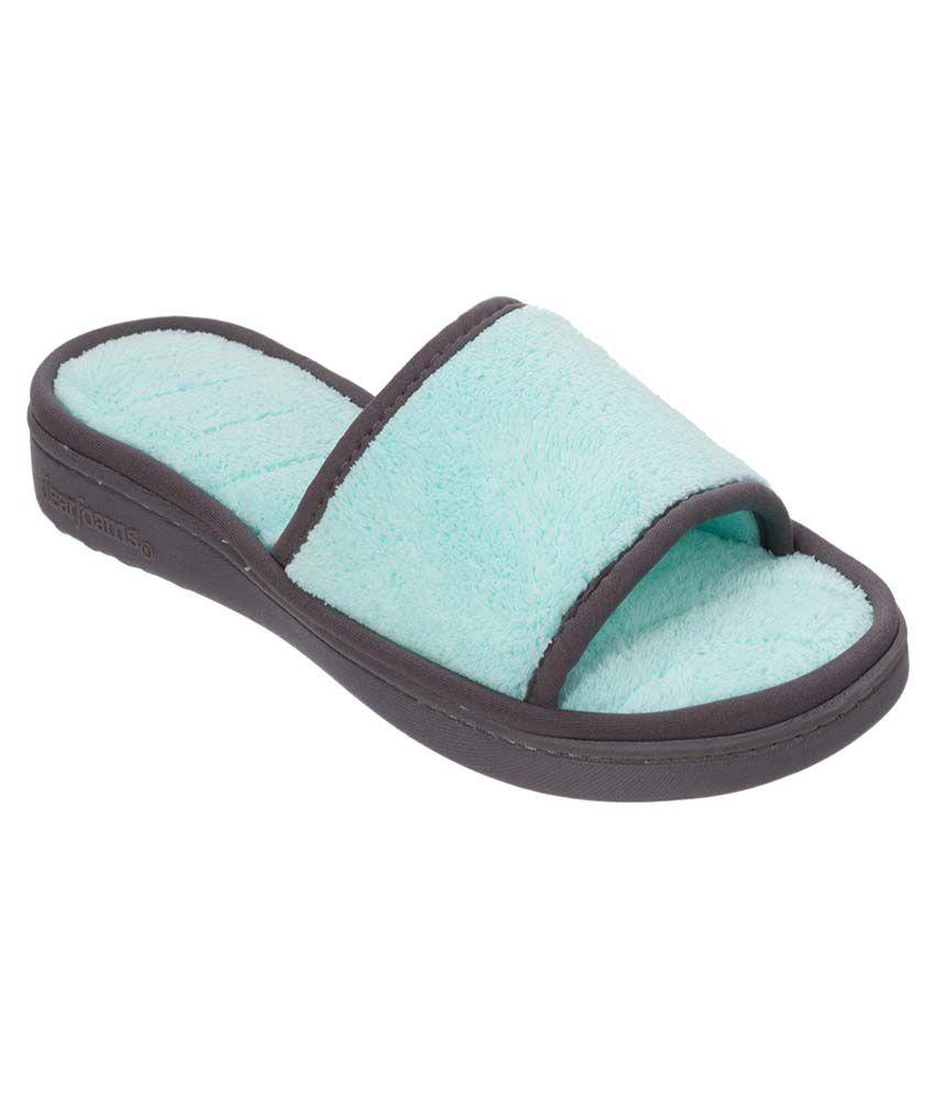 Dearfoams Blue Slippers & Flip Flops