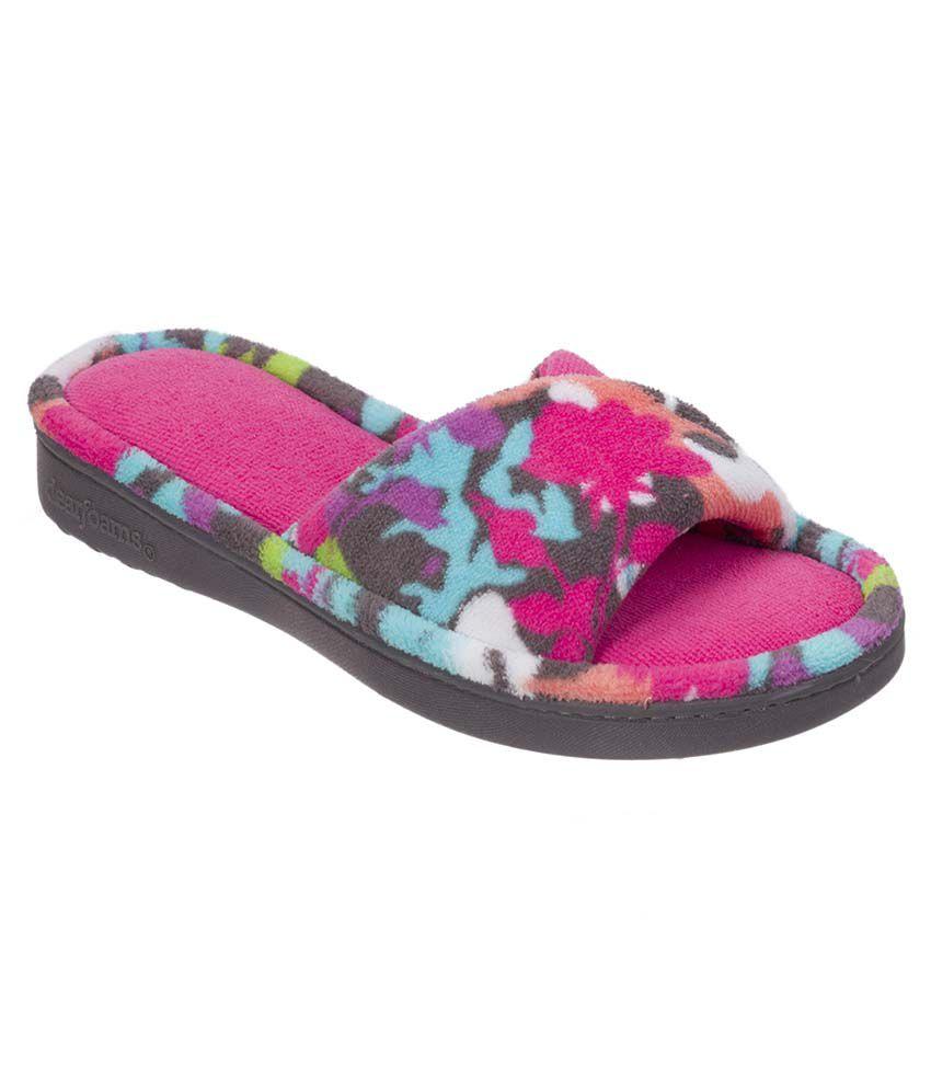 Dearfoams Pink Slippers & Flip Flops