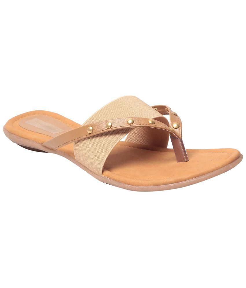 Femitaly Brown Flat Slip-on & Sandal
