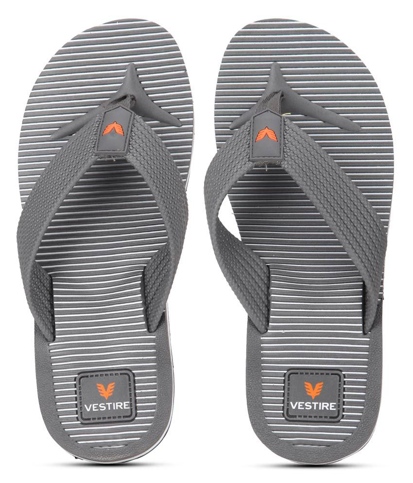 c83621812b58b2 Vestire Gray Flip Flops Price in India- Buy Vestire Gray Flip Flops Online  at Snapdeal