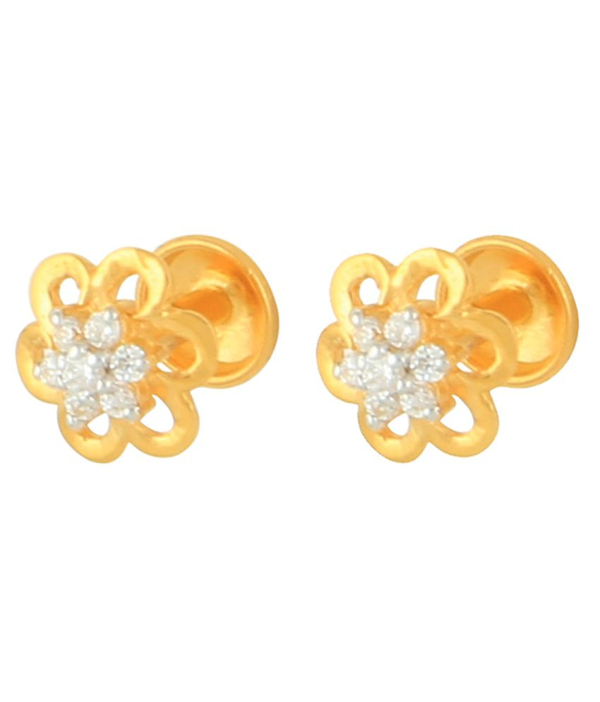 Aurumvilla 22kt Gold Stud Earrings