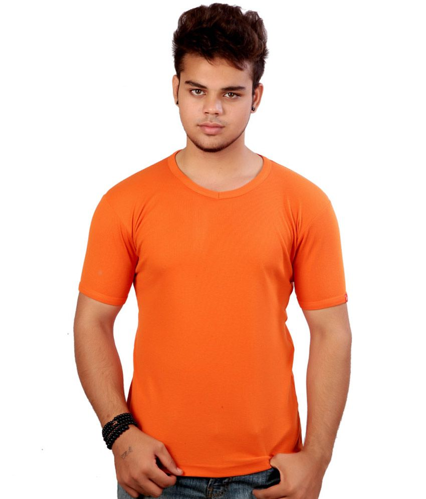 Bossbrands Orange Round T Shirts Pack Of 2