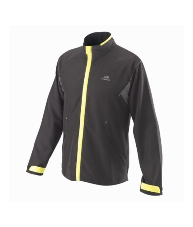 KALENJI Comfort Protect Men Running Windcheater Black By Decathlon