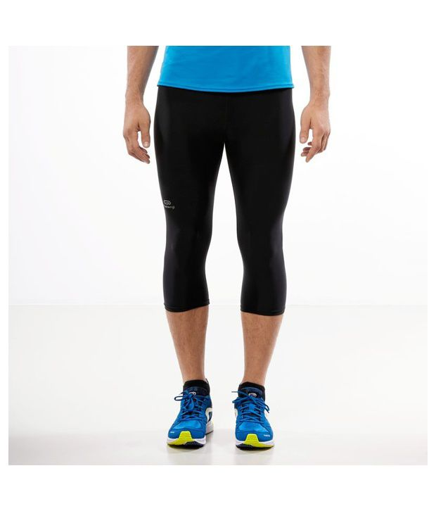 KALENJI Essential 3/4 Men Running Tights By Decathlon