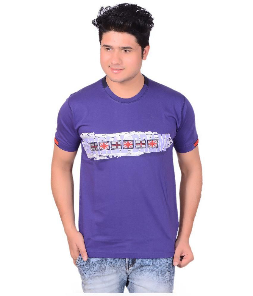 Jolly Purple Round T Shirts