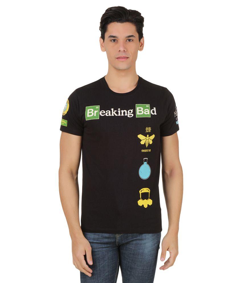 Breaking Bad Black Printed T-Shirt