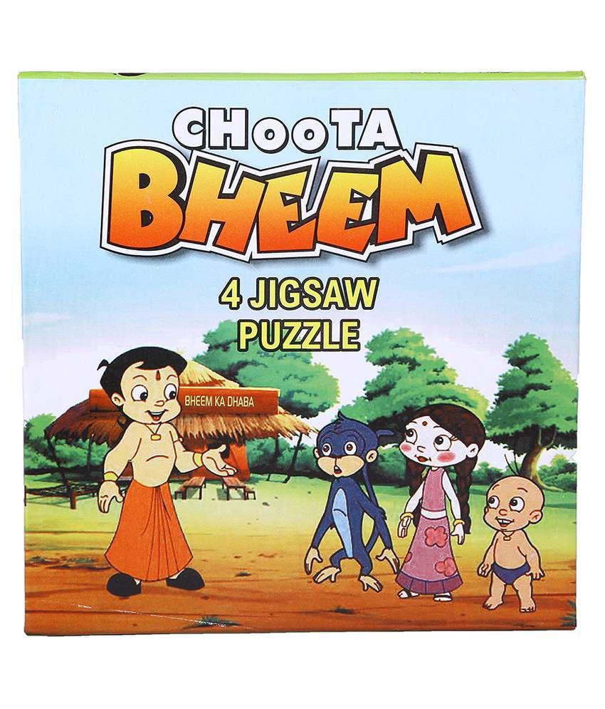 mykidopedia multicolour platic choota bheem jigsaw puzzle set buy
