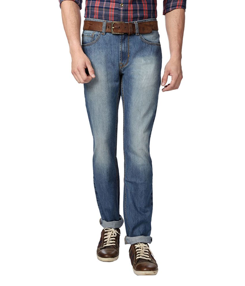 Peter England Blue Regular Fit Jeans