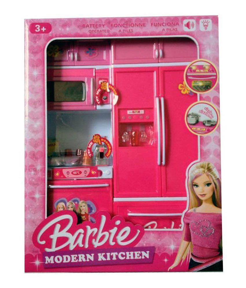 Real deal multicolor barbie kitchen set buy real deal for Kitchen set real