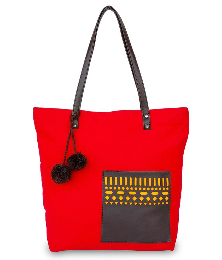 Lemon Trunk Red Canvas Tote Bag - Buy Lemon Trunk Red Canvas Tote Bag  Online at Best Prices in India on Snapdeal 48ab5c5fee3c9