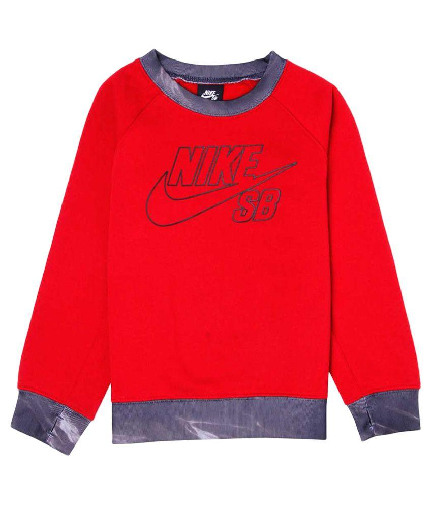 Nike Red Without HoodSweatshirt