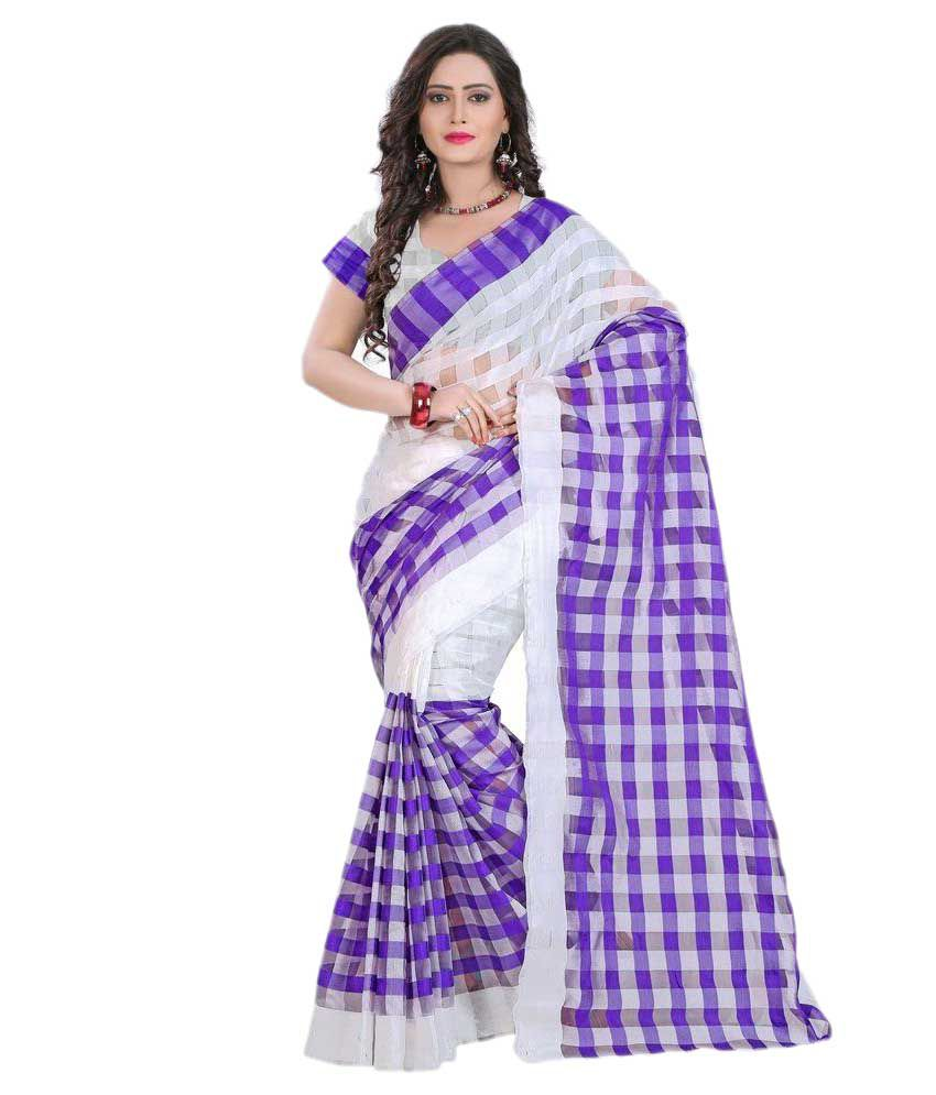 cd82b9fc79c3 Party Wear Dresses Purple Cotton Saree - Buy Party Wear Dresses Purple  Cotton Saree Online at Low Price - Snapdeal.com