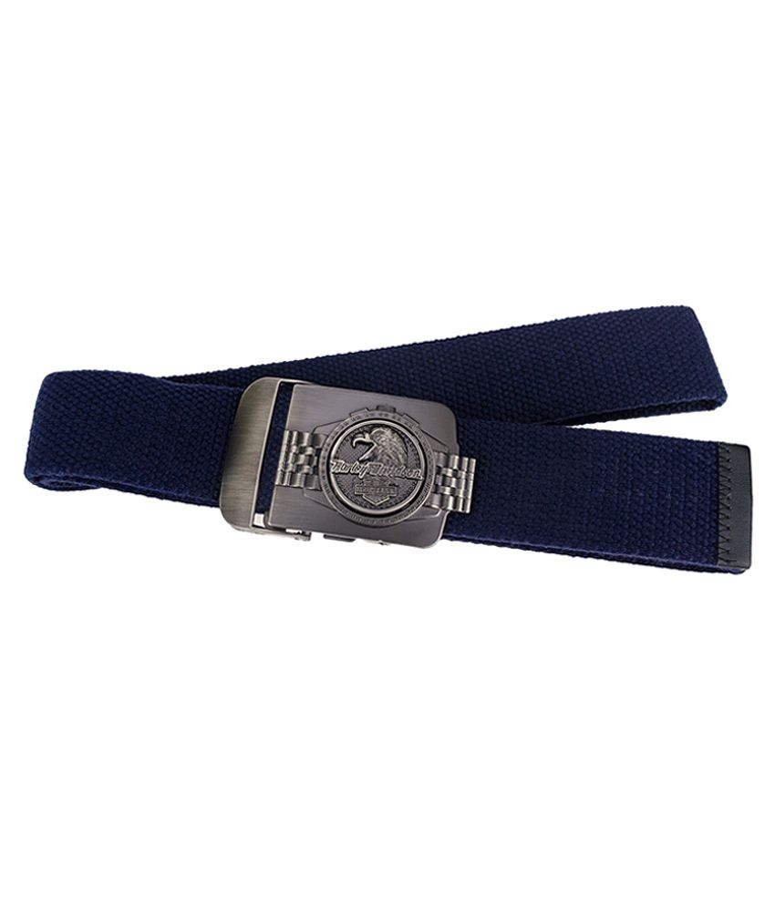 Genious Blue Canvas Casual Belt for Men
