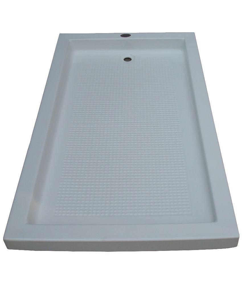 Buy Madonna Space Acrylic Shower Tray - White Online at Low Price in ...