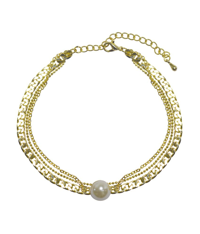 Simaya Golden Alloy Single Anklet