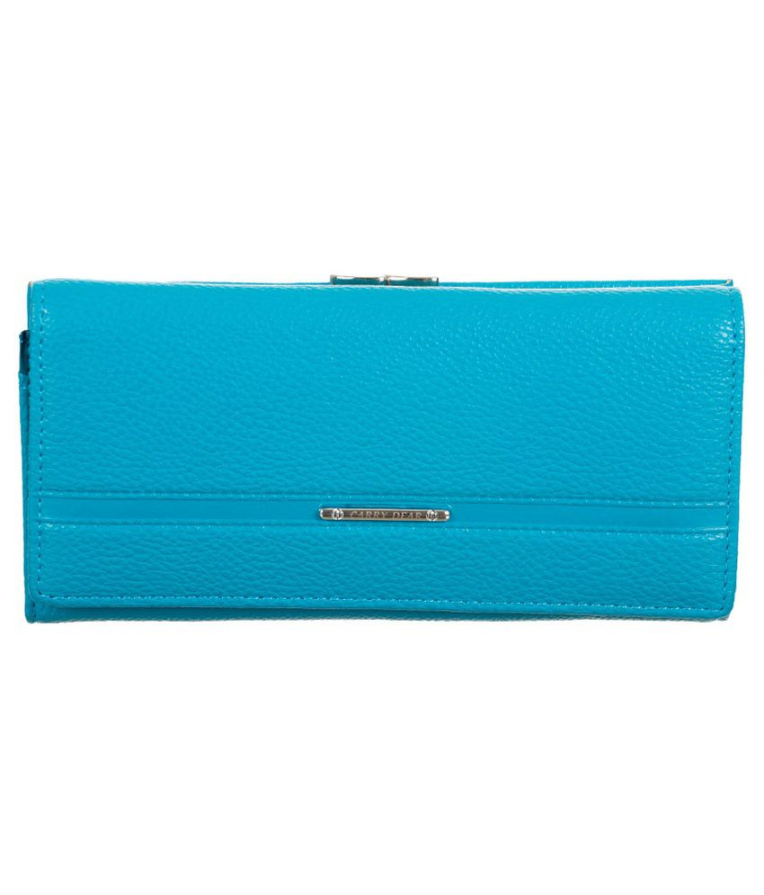 Coversncases Turquoise Leather Long Wallet for Women
