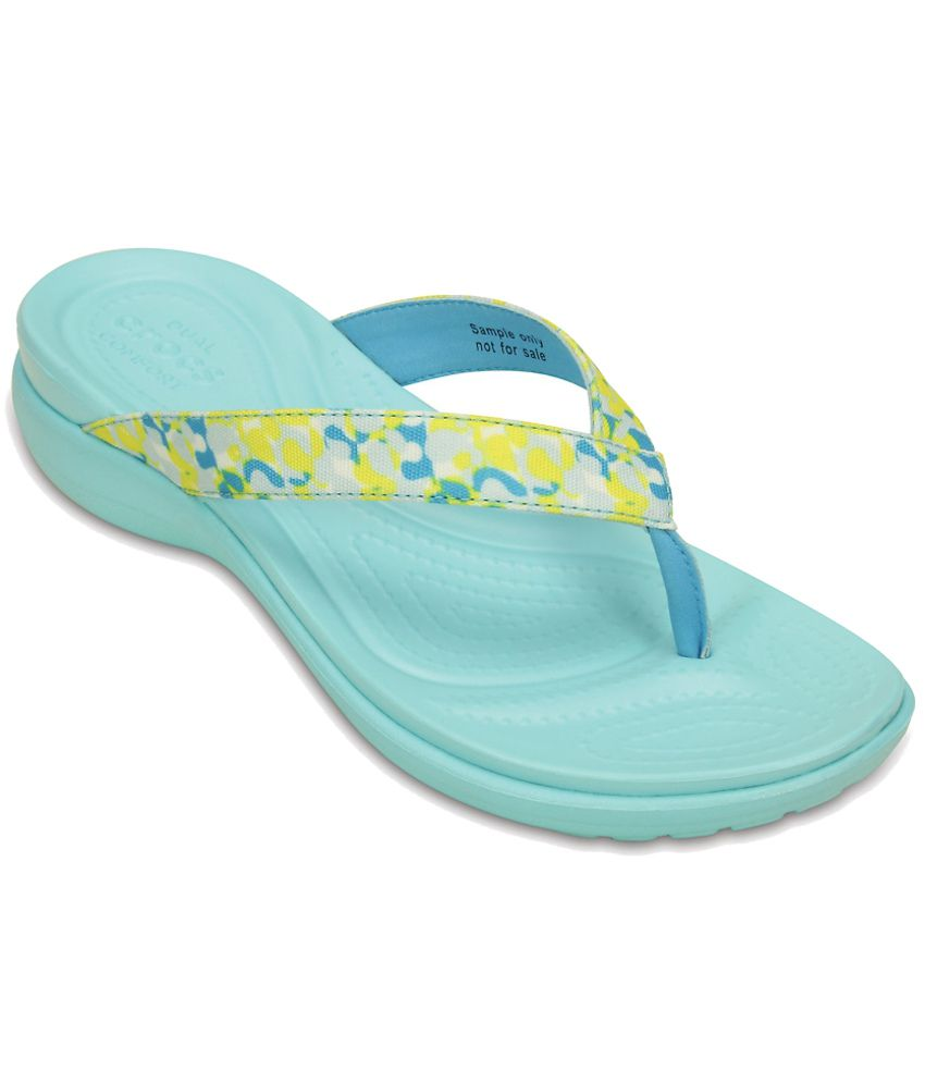 Crocs Relaxed Fit Yellow Slippers & Flip Flops