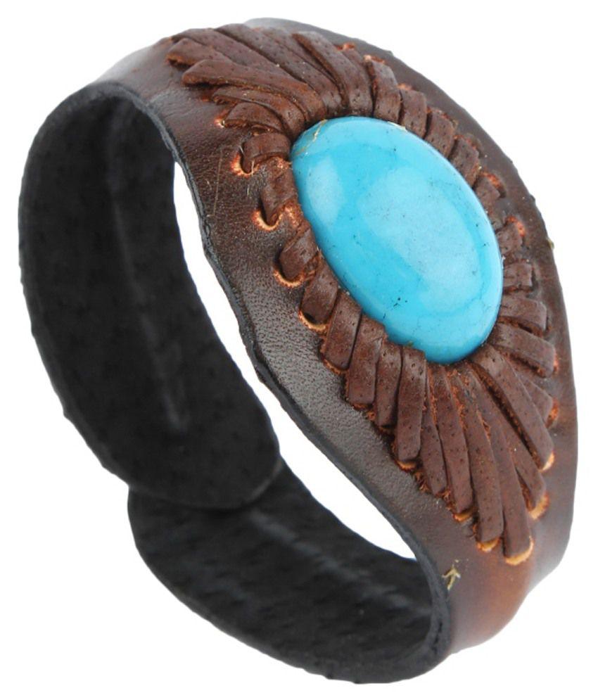 Mojeska Brown Leather Bracelet