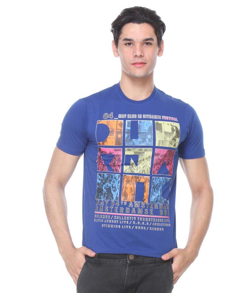 TAB91 Blue Round T Shirts