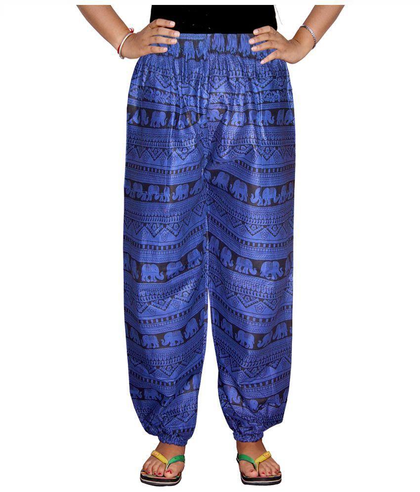 Bright And Shining Blue Cotton Pajamas