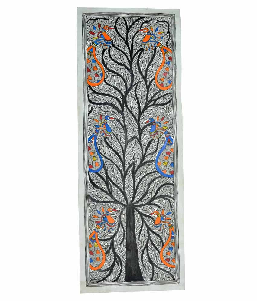Craftuno Multicolour Tree Of Life Painting