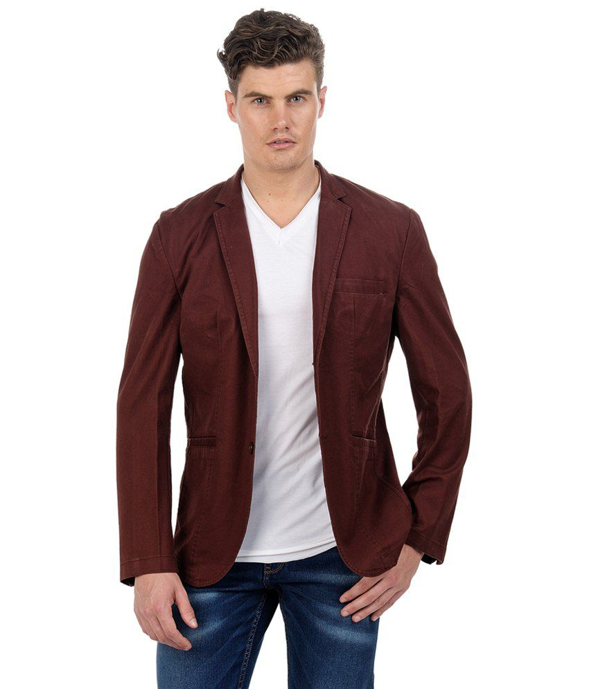 Sting Maroon Casual Blazers