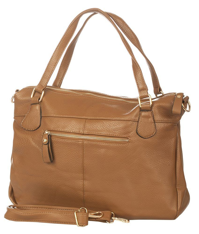 Vero Couture Brown P.U. Shoulder Bag